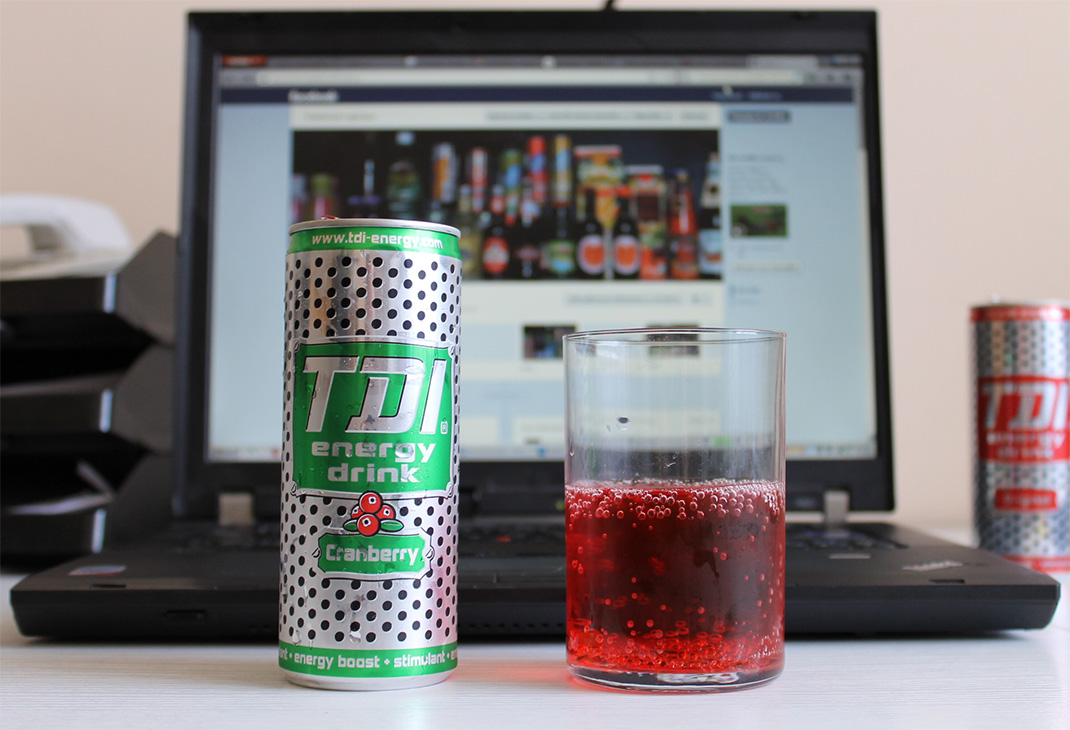 TDI energy drink Cranberry